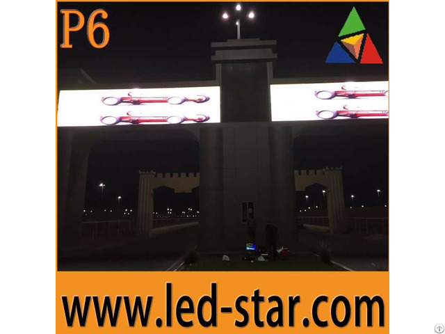 Outdoor P6 Led Display Screens Advertising Board