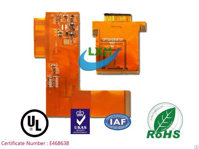 Multilayer Immersion Gold Rigid Flex Pcb Board