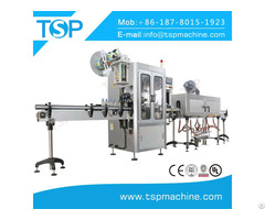 Full Automatic Square Bottle Sleeve Labeling Machine With Shrinking Tunnel