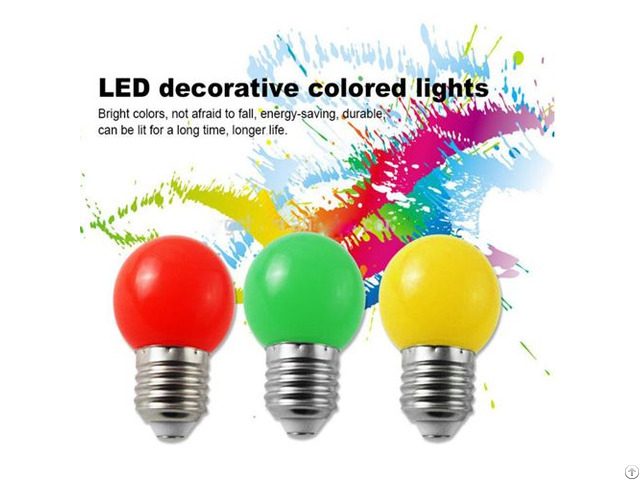 Zhejiang Color Pc Cover G45 E26 E27 Decorativesmart Smd Led Light Bulb