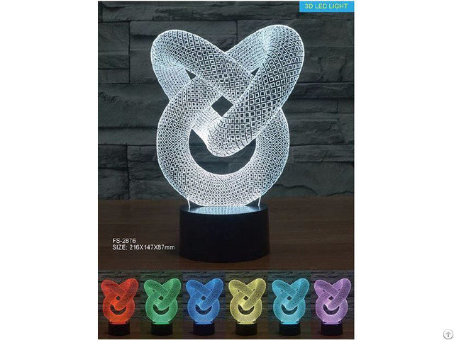 Amazing 7color Change Sensitive Touch Switch Usb Style 3d Illusion Table Lamp