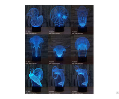 Creative Vision Usb Connect Led Table Lamp 3d Illusion Night Light
