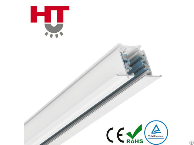 Three Circuits Recessed Track Rail For Spotlight