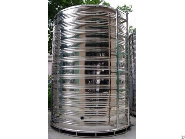 Cylindrical Stainless Steel Water Tank