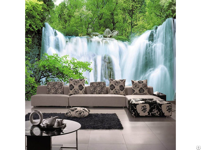 3d Wall Theme Nature Waterfall Customize Wallpaper Mural