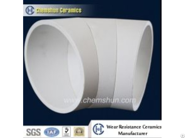 Iso Pressing Alumina Ceramic Bend Pipe Cone For Coal Conveying System