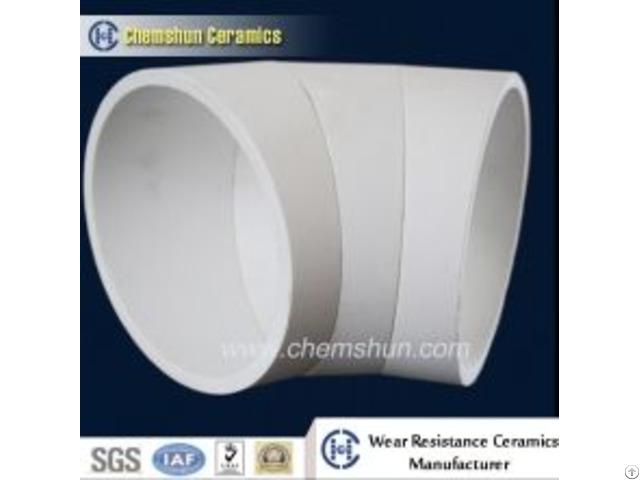Pressing Alumina Ceramic Bend Pipe Cone For Coal Conveying System