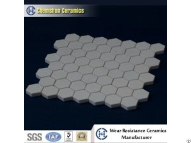 Alumina Ceramic Hex Tile Matted For Wear Resistant Liner