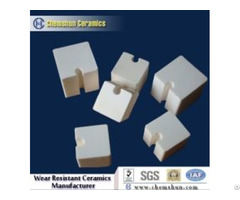 Inter Locking Alumina Wear Ceramic Block With Groove And Tongues