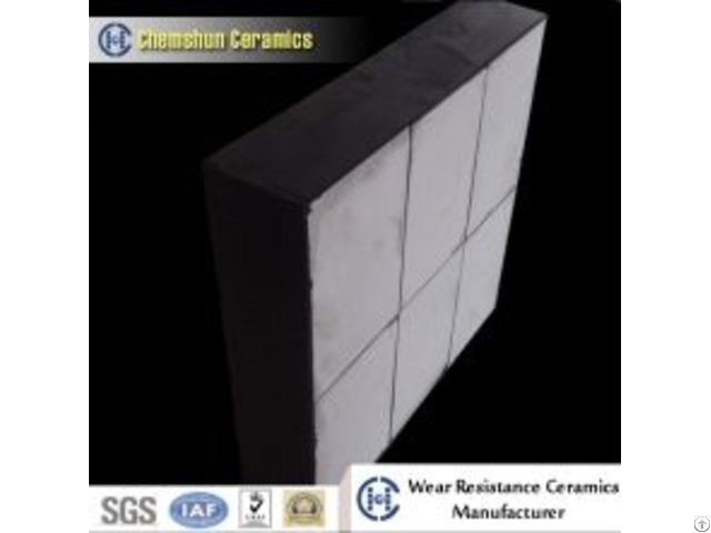 Shock Resistant Rubber Backed Ceramic Wear Liner For Industrial Maintenance