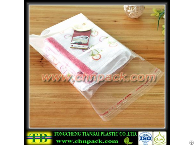 Clear Opp Resealable Transparent Adhesive Plastic Bags