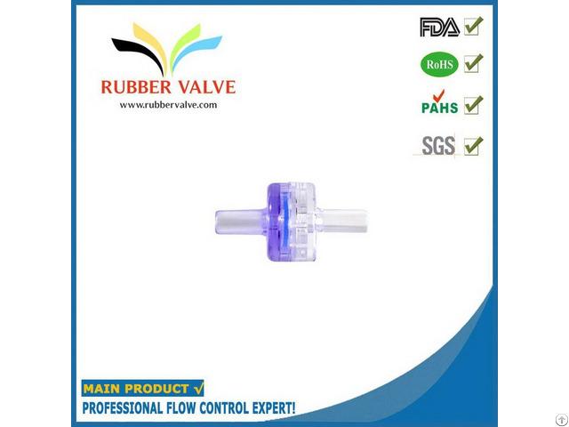 Fda Medical Grade Plastic Non Return Valve