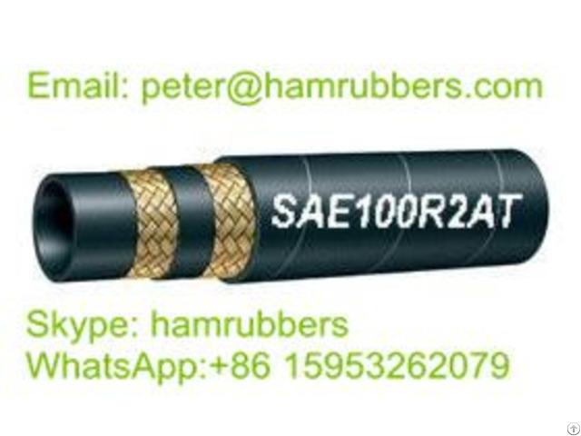 Sae 100r2at Din En853 2sn Wire Braided Hydraulic Hose