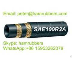 Sae 100r2a Din En853 2st Wire Braided Hydraulic Hose