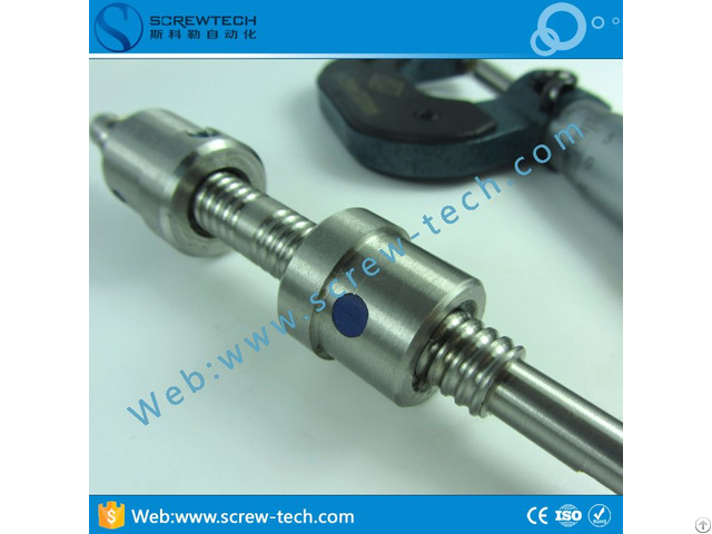 High Precision Stainless Steel Bi Directional Ball Screw 1002 For Cnc Machine