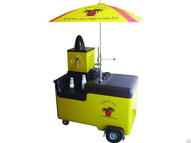 Professional Coconut Water Beverage Cart For Export