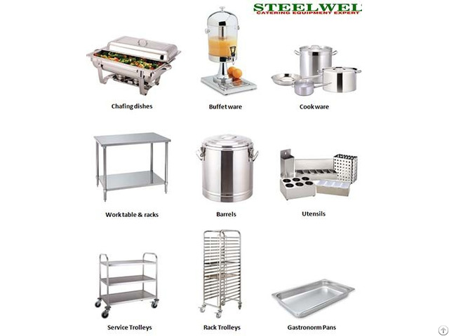 Chafing Dish Gn Pan Trolley Work Tables