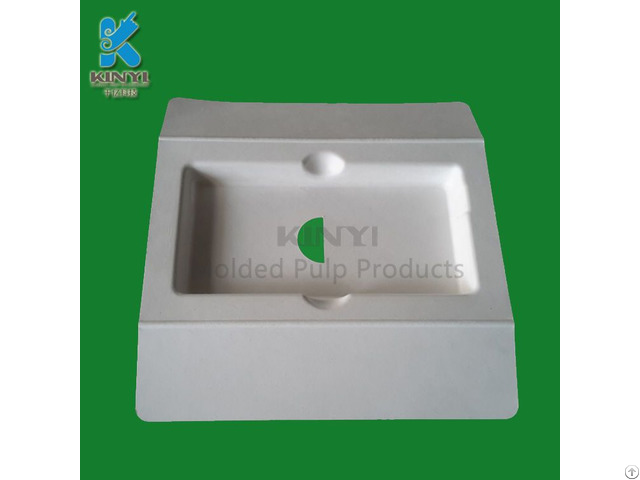 Earth Friendly Molded Paper Pulp Tablet Tray Packaging