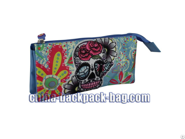 Blue Skull Kids Pencil Case St 15jh11pc