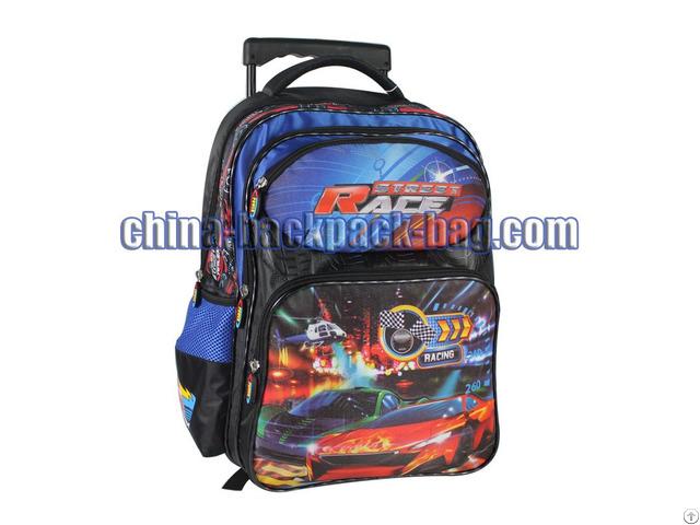 Race Car Kids Trolley Bags St 15sr04tr