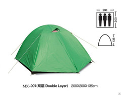 Green Waterproof Fabric Outdoor Camping Tent