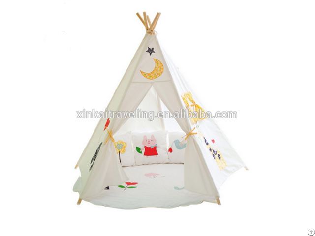 Children Kids Play Indian Teepee Tent