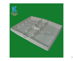 Biodegradable Paper Pulp Molded Protective Packaging Tray Inserts