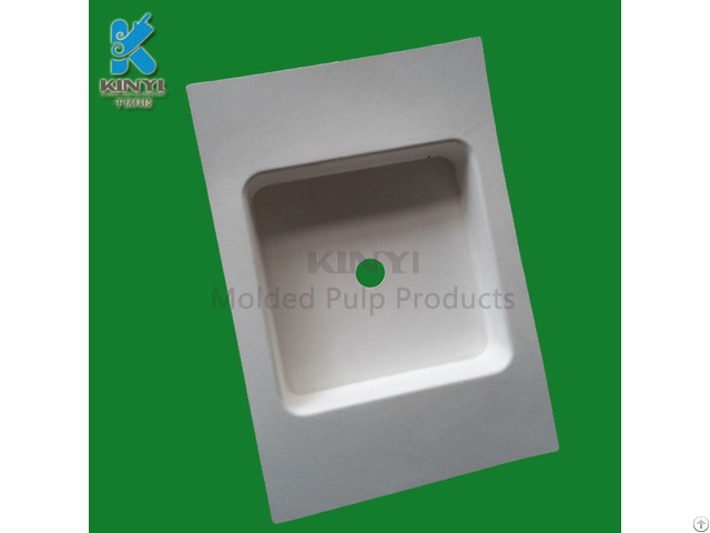Thermo Pressed Recycled Paper Pulp Material Bespoke Eco Friendly Packaging Trays