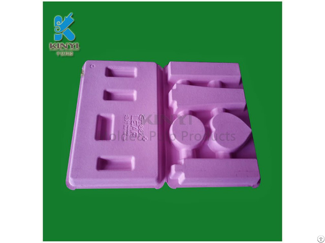 Environmentally Friendly Recycled Fiber Pulp Molded Makeup Kits Packaging Trays