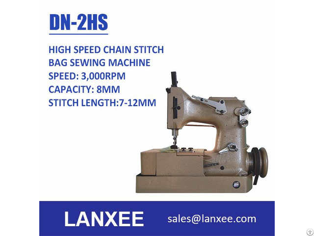 Lanxee Dn 2 High Speed Automatic Lubrication Chain Stitch Bag Sewing Machine