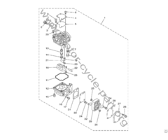 6b4 14301 Outboard Carburetor Part