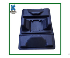 Black Color Fiber Molded Biodegradable Protective Packaging Inserts Trays