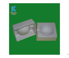 Natural Fiber Pulp Molded Biodegradable And Recycled Soap Packaging