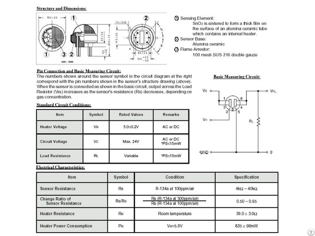 Semiconductor Gas Sensors Tgs8410