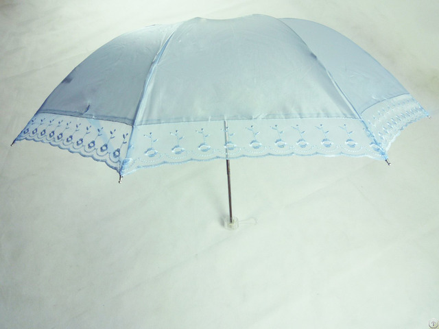 Three Folds 8k Fashion Lady Flower Pattern Uv Umbrella