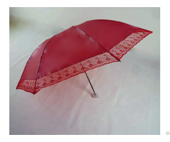 Three Folds 8k Fashion Lady Flower Pattern Umbrella