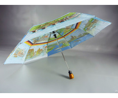 "21"" 8k190t Pongee Full Printing Umbrella"