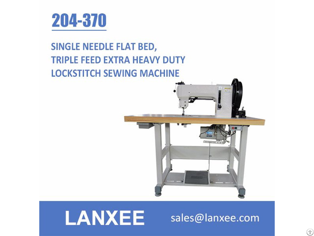 Lanxee 204 370 Durkopp Adler Flat Bed Heavy Duty Sewing Machine