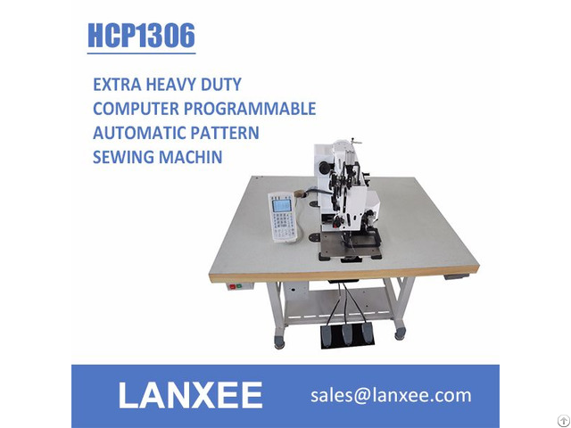 Lanxee Hcp Extra Heavy Duty Computer Programmable Automatic Pattern Sewing Machine