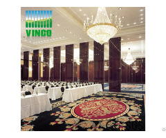 Interior Aluminium Acoustic Folding Movable Hotel Hall Partition Wall Divide For Office Restaurant