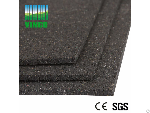 Black Heat Insulation Rubber Soundproofing Shock Damping Floor Mats