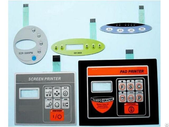 Customized Pvc Pc Pet Keypads Plastic Switch Panel