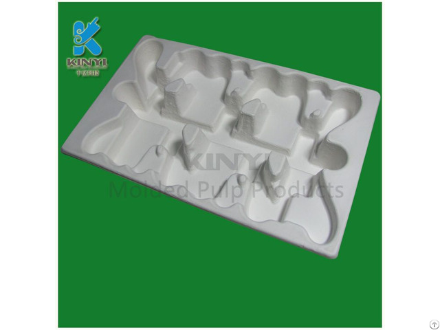 Eco Friendly Sturdy Recyclable Molded Pulp Thermoform Tray