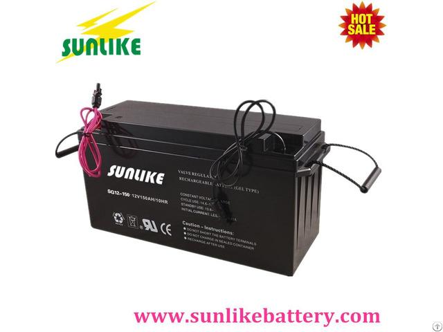 Deep Cycle Solar Gel Battery 12v120ah For Off Grid Power System