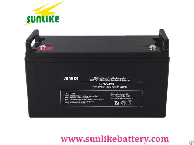 Lead Acid Ups 12v120ah Solar Power Battery With 3years Warranty