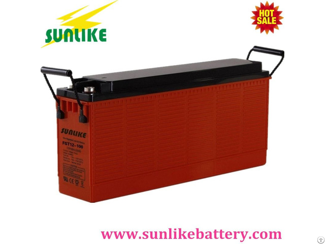 High Power 12v100ah Front Terminal Sla Battery For Emergency Lighting
