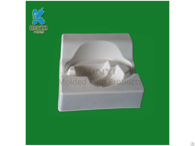 Eco Friendly Biodegradable Earphone Inner Packaging Tray Bagasse Pulp Mold