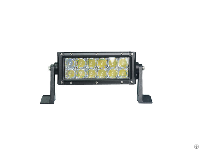 36w 7inch 5d Spot Lens Dual Row Led Light Bar Ip68 Waterproof For Jeep Offroad All 12v 24v Cars