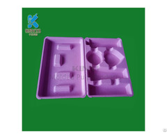 Hot Sell Food Grade Molded Pulp Cosmetic Tray Packaging