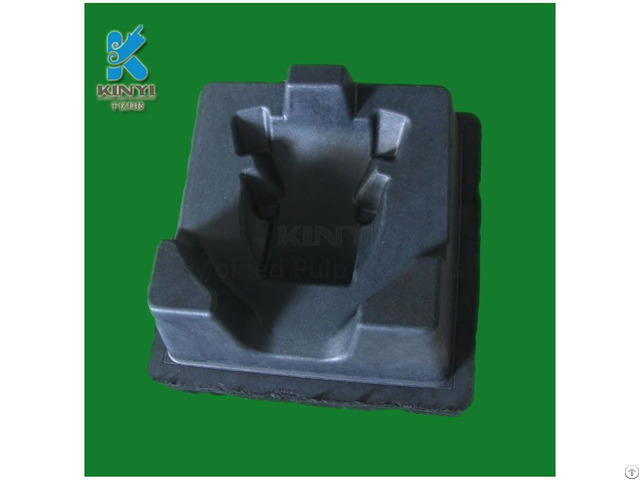 Black Color Biodegradable Thermoformed Fiber Packaging Trays